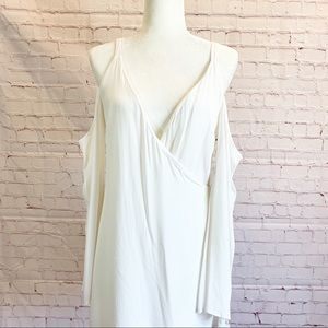 Lovers + Friend Wrap Cold Shoulder Dress